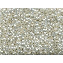 10 Grams DB0221 Miyuki Glit Lined White Opal Size 11 Delica Beads