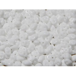 12 Grams Chalk White Super Duo Beads