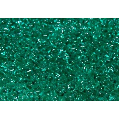 12 Grams Emerald Super Duo Beads