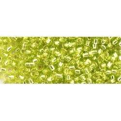10 Grams 15-14 Miyuki Silver Lined Chartreuse Seed Beads