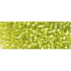 10 Grams 15-14 Miyuki Silver Lined Chartreuse Seed Beads