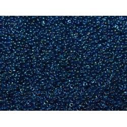 50 Grams 11-347 Miyuki DK. Blue Lined Aqua AB Seed Beads