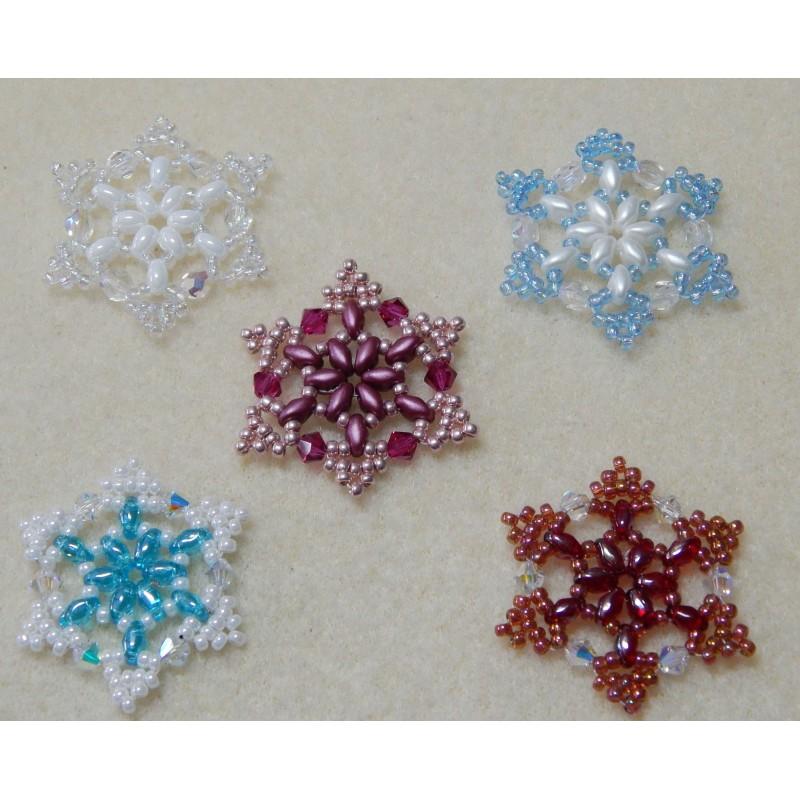 snowflake 1 beaded ornament pattern west jewels