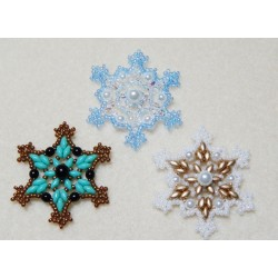 Snowflake 2 Beaded Ornament Pattern