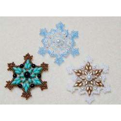 Snowflake 2 Beaded Ornament Pattern
