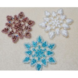 Snowflake 3 Beaded Ornament Pattern