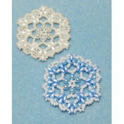 Snowflake 6 Beaded Ornament Pattern