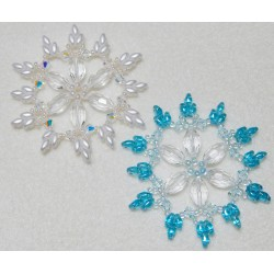 Snowflake 7 Beaded Ornament Pattern