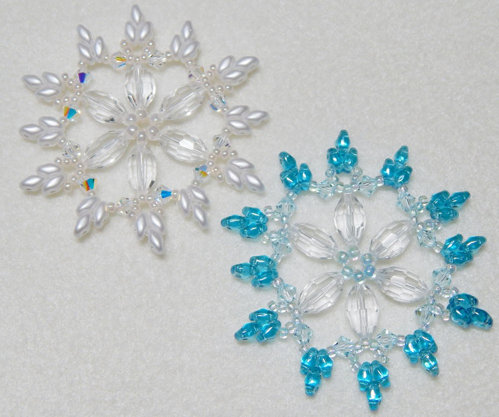 snowflake beaded ornaments images