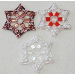 Snowflake 9 Beaded Ornament Pattern