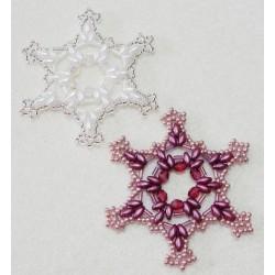 Snowflake 11 Beaded Ornament Pattern