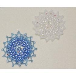 Snowflake 12 Beaded Ornament Pattern