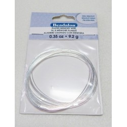 Oval Silver Plated Memory Wire .35 oz