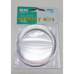 2 1/2 Silver Plated Steel Memory Wire 1 Ounce Approx 70 Loops