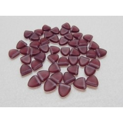 8 mm Czech Matte Plum Triangle Beads Qty 50