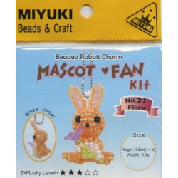 Miyuki Beaded Rabbit Charm Mascot Fan Kit