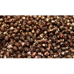 100 Pack 3mm Bronze Czech Fire Polished Crystals