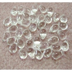 6x9 mm Crystal Clear Fringe Drops Qty 40 each