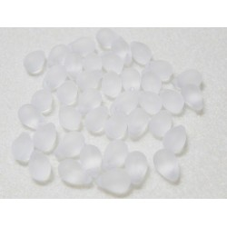 6x9 mm Matte White Fringe Drops Qty 40 each