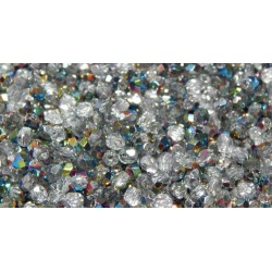 100 Pack 3mm Vitrail Czech Fire Polished Crystals