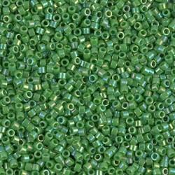 10 Grams DB0163 Miyuki Op Green AB Size 11 Delica Beads