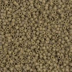 10 Grams DB0390 Miyuki Matte OP Green Tea Luster Size 11 Delica Beads