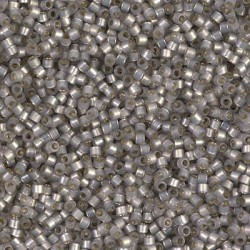 10 Grams DB630 Miyuki Dyed LT. Smoke Gray S/L Alabaster Size 11 Delica Beads
