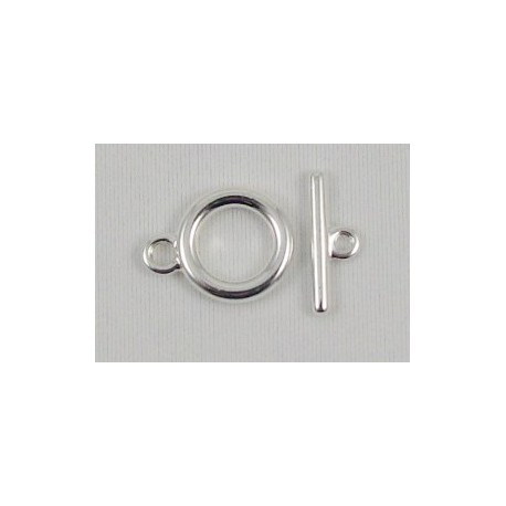 10 mm Smooth Silver Plated Toggle Clasp