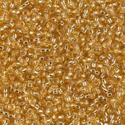 50 Grams 11-3 Silver Lined Gold Miyuki Seed Beads