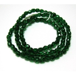 16 Inch Strand 4mm Emerald Dipped Décor Czech Fire Polished Crystals