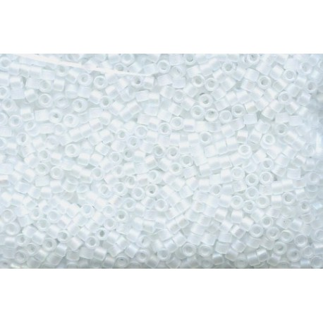 10 Grams DB851 Miyuki Matte Crystal AB Size 11 Delica Beads