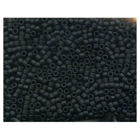 10 Grams DB310 Miyuki Matte Black Size 11 Delica Beads