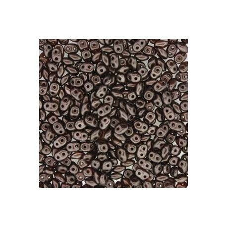 12 Grams Pastel Dark Brown Bronze Super Duo Beads