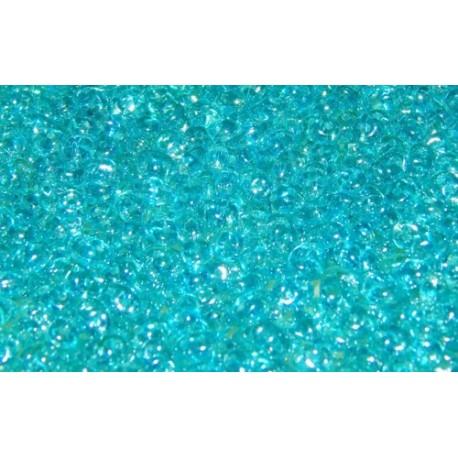 12 Grams Aquamarine White Luster Super Duo Beads