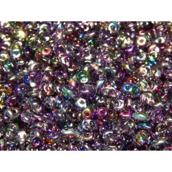 12 Grams Crystal Magic Violet Grey Super Duo Beads