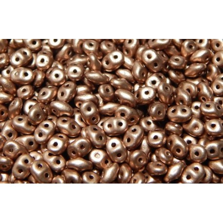 12 Grams Crystal Bronze Copper Super Duo Beads