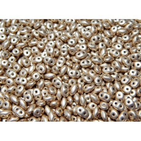 12 Grams Crystal Bronze Pale Gold Super Duo Beads