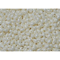 12 Grams Pearl Cream Twin Hole Beads