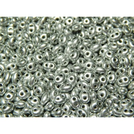 12 Grams Silver Twin Hole Beads