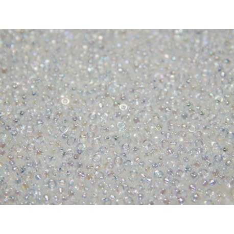 10 Grams 15-250 Miyuki Crystal AB Seed Beads