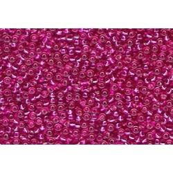 10 Grams 15-1436 Miyuki Raspberry TR S/L Dyed Seed Beads