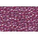 10 Grams 15-1524 Miyuki Spkl Peony Pink Lined Crystal Seed Beads