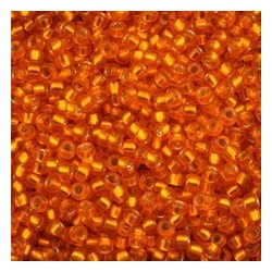 10 Grams 15-1625 Miyuki Dyed Semi Matte S/L Orange Seed Beads