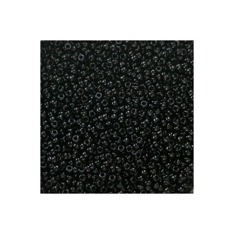 10 Grams 15-401 Miyuki Jet Black Seed Beads