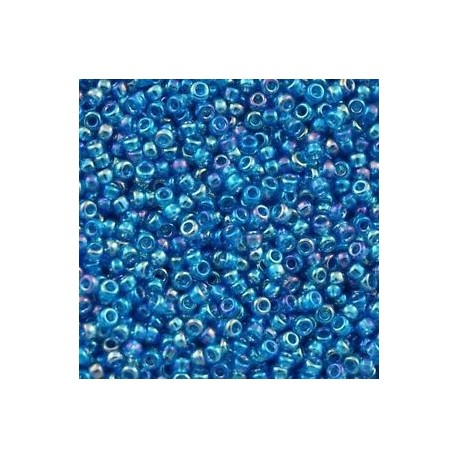 10 Grams 15-291 Miyuki TR Capri Blue AB Seed Beads