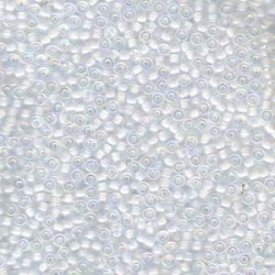 50 Grams 11-284 Miyuki White Lined Crystal AB Seed Beads
