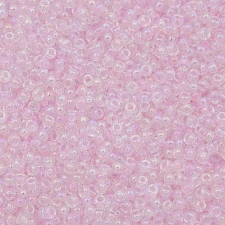 50 Grams 11-265 Miyuki TR Pale Pink AB Seed Beads