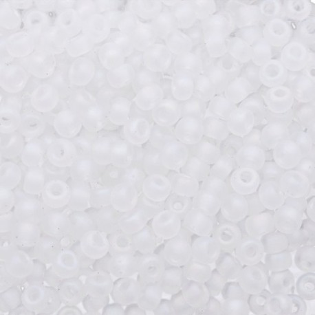 50 Grams 11-131FR Miyuki Matte Crystal AB Seed Beads