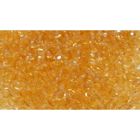 100 Pack 3mm Honey Czech Fire Polished Crystals