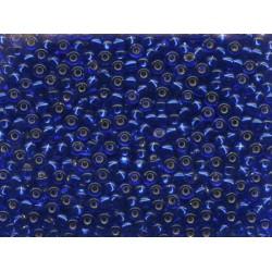 50 Grams 11-20 Miyuki Silver Lined Cobalt Blue Seed Beads